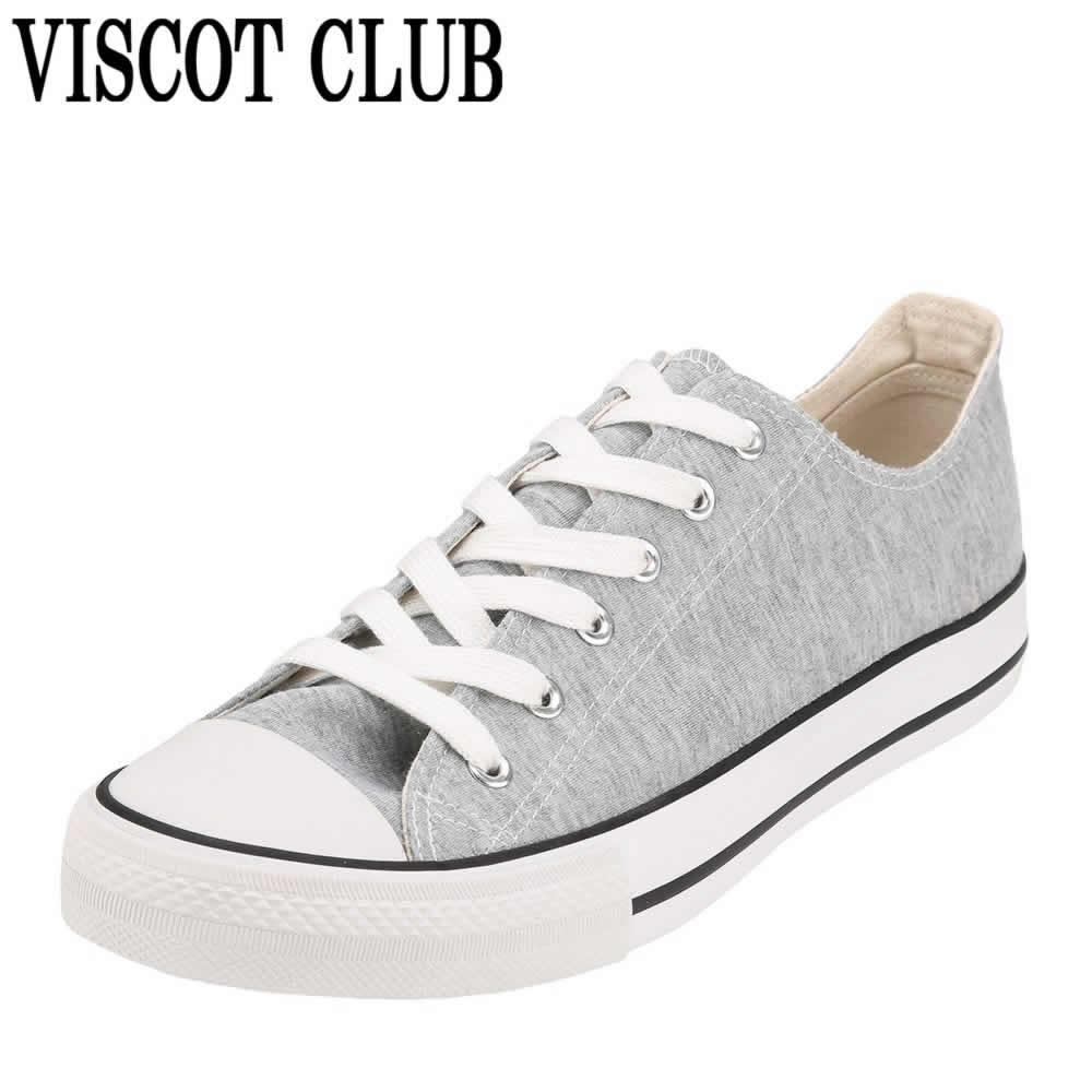 [ヴィスコットクラブ] VISCOT CLUB RMS-1033 メンズ | ローカットスニーカー | レースアップ | 加硫スニーカー バルカナイズド | 大きいサイズ対応対応 28.0cm | グレー×ホワイト TSRC