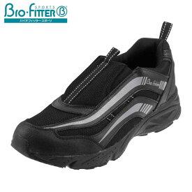[バイオフィッター スポーツ] Bio Fitter BF-158 メンズ | レースアップスニーカー | ローカット サイドゴア | 抗菌防臭 軽量 | 大きいサイズ対応 28.0cm | ブラック TSRC