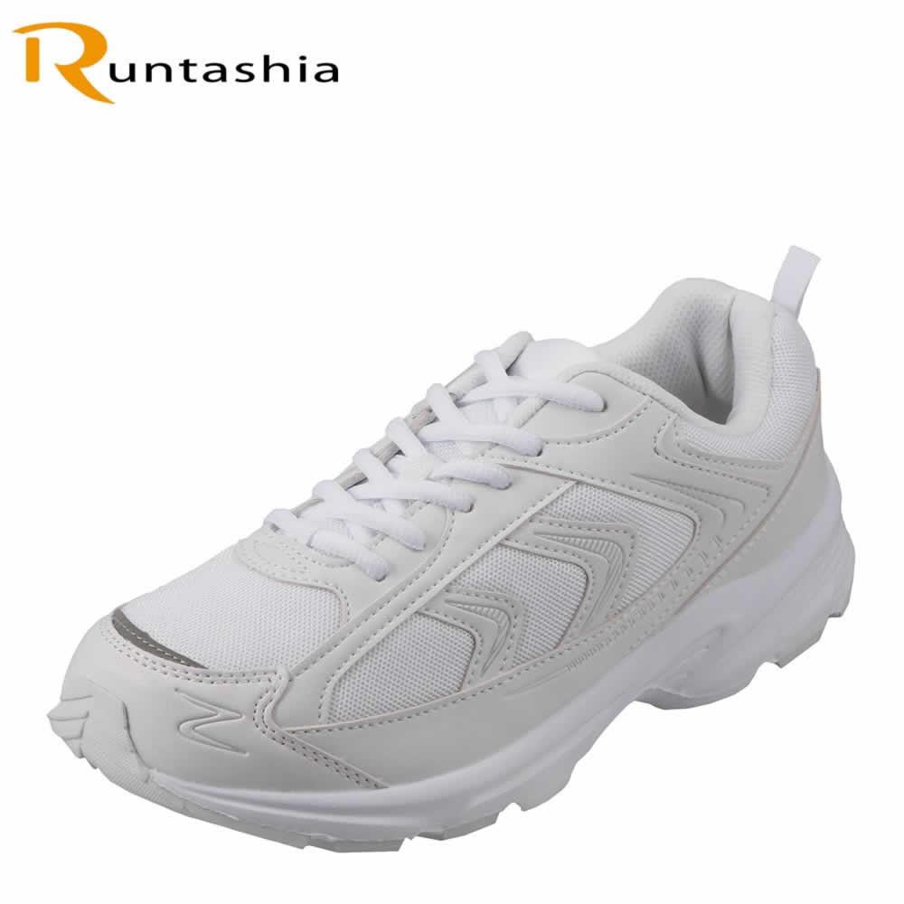 [ランタシア] RUNTASHIA RT7100 メンズ | ランニングスニーカー | 軽量 ローカットスニーカー | ジョギング スポーツ ジム | 大きいサイズ対応 28.0cm 29.0cm | ホワイト×ホワイト TSRC