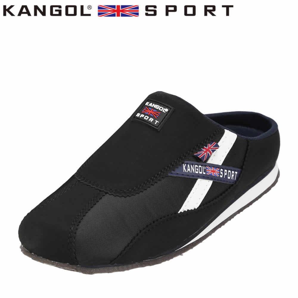 [カンゴールスポーツ] KANGOL SPORT KG9144 レディース | カジュアルサンダル | コンフォートサンダル オフィスサンダル | 軽量 | 大きいサイズ対応 25.0cm 25.5cm | ブラック TSRC
