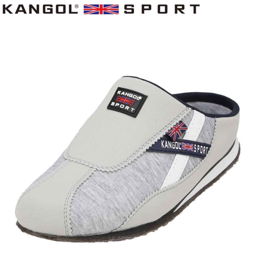 [カンゴールスポーツ] KANGOL SPORT KG9144 レディース | カジュアルサンダル | コンフォートサンダル オフィスサンダル | 軽量 | 大きいサイズ対応 25.0cm 25.5cm | スモーキーグレー TSRC