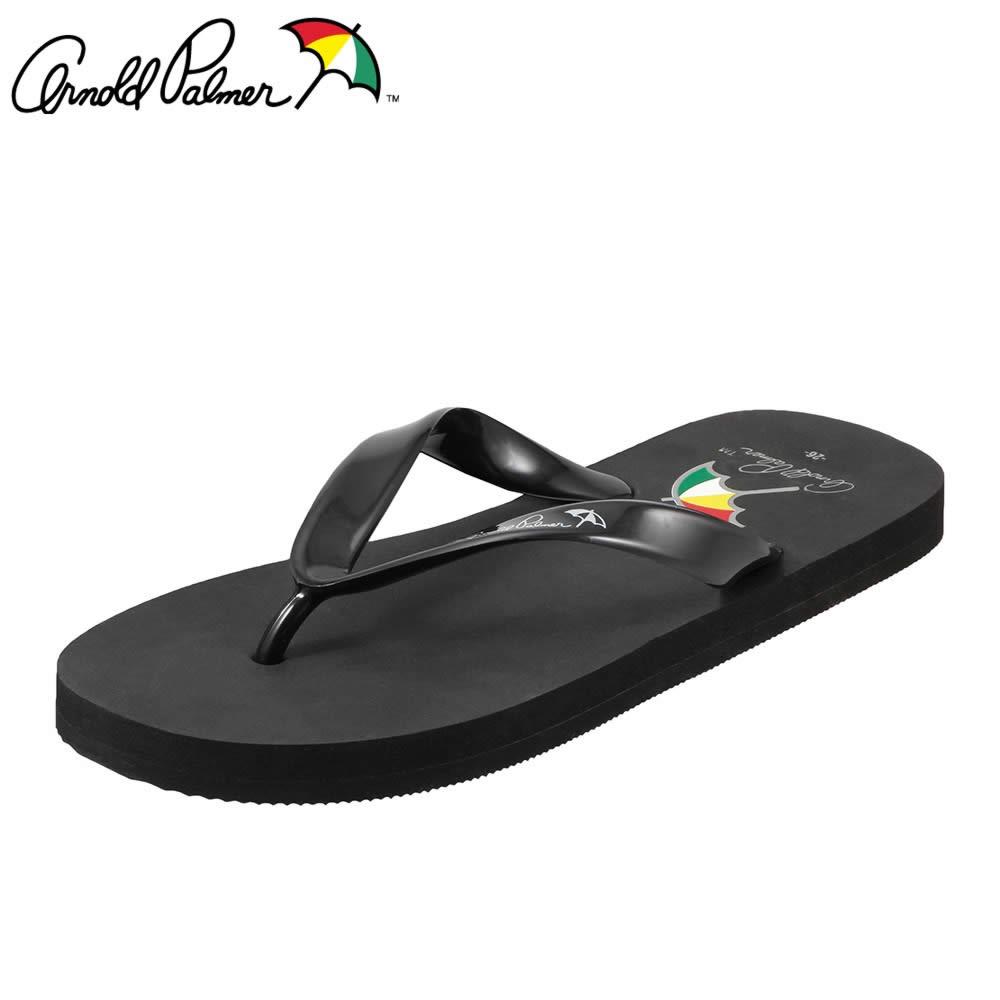 [アーノルドパーマー] Arnold Palmer AP8004 メンズ | ビーチサンダル | トングサンダル カジュアル | バイカラー ぺたんこ | 大きいサイズ対応 28.0cm | ブラック TSRC