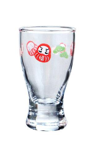 東洋佐々木ガラスめでたい酒杯(ダルマと松柄)(3個セット)