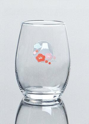 東洋佐々木ガラス日本酒グラス(富士山梅柄)(3個セット)【プロユース業務用日本酒冷酒家庭用】