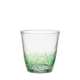 【東洋佐々木ガラス直営】水の彩[みずのあや]オンザロック(森の彩)(1個セット) CN17709-D04 ハンドメイド 全面強化 ファインクリスタル 日本製 ウイスキー 焼酎