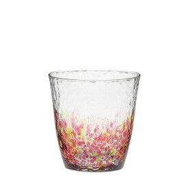 【東洋佐々木ガラス直営】水の彩[みずのあや]オンザロック(花の彩)(1個セット) CN17709-D05 ハンドメイド 全面強化 ファインクリスタル 日本製 ウイスキー 焼酎