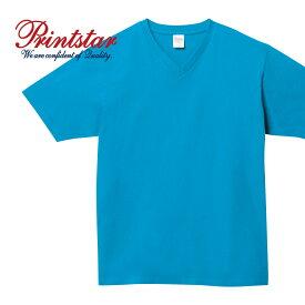 tシャツ メンズ 半袖 無地 Printstar プリントスター 5.6オンス ヘビーウェイト Vネック Tシャツ 00108-VCT 108vct 厚手 インナー 通勤 通学 ユニフォーム
