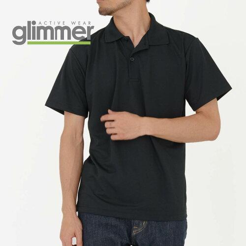 ポロシャツ メンズ 半袖 無地 GLIMMER グリマー ドライポロシャツ 00302 ADP 302adp ドライ...