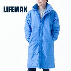 ベンチコート 無地 LIFEMAX ライフマックス ライトベンチ コート mj0066 メンズ レディース ジュニア 子供 アウター 暖かい あったか サッカー GF JrL F XL