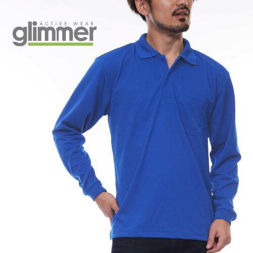 ポロシャツ メンズ 長袖 GLIMMER グリマー ドライ 長袖 ポロシャツ ポケット 付 00335 ALP 335...