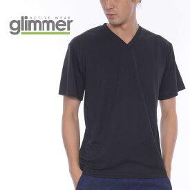 速乾 tシャツ GLIMMER グリマー 4.4オンス ドライ Vネック Tシャツ 00337-AVT 337avt 吸汗 速乾 トレーニング スポーツ ダンス チーム ユニフォーム SS-LL