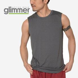 速乾 ドライ メンズ Glimmer グリマー 3.5オンス インターロックドライノースリーブ 00353-AIN 送料無料 吸汗 速乾 インナー メッシュ スポーツ フィットネス