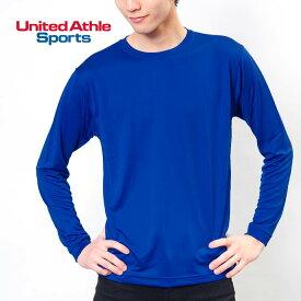 長袖 Tシャツ メンズ 無地 United Athle Sports ユナイテッドアスレスポーツ 4.7オンス ドライシルキータッチ 5089-01 ロングスリーブ Tシャツ 速乾 uvカット