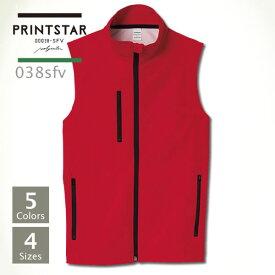 067b08c5b18a6b ベスト メンズ【Printstar(プリントスター) | ソフトシェルベスト 038sfv】ベスト メンズ
