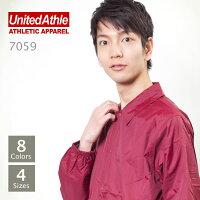 UnitedAthle(ユナイテッドアスレ):ナイロンコーチジャケット(ライニング付):S〜XL