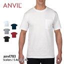 tシャツ 無地【Anvil(アンビル) | アダルト ミッドウエイト ポケットTシャツ anvl783】tシャツ 無地 半袖 メンズ 男女…