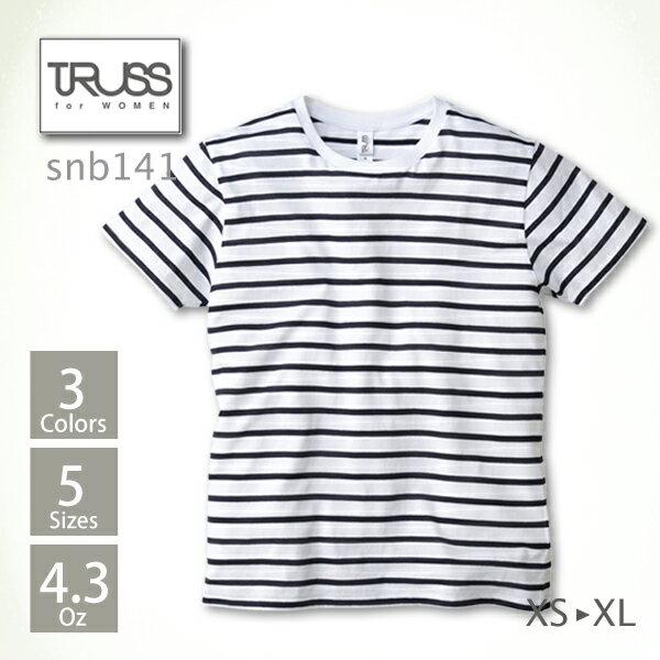 tシャツ メンズ【TRUSS(トラス) | ナローボーダーTシャツ snb141】tシャツ メンズ 男女兼用 半袖 ボーダー 綿 100% イベント 友達 お揃い