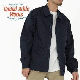 ジャケット メンズ 長袖 United Athle Works ユナイテッドアスレワークス T/C カバーオール ジャケット 7452-01 ペン差し付き 胸ポケット XS S M L XL XXL