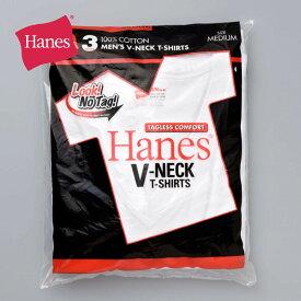 tシャツ メンズ 無地【Hanes ヘインズ 【3枚組】アカラベル Vネック Tシャツ 赤パック HM2145K】インナー メンズ 赤パック S M L XL