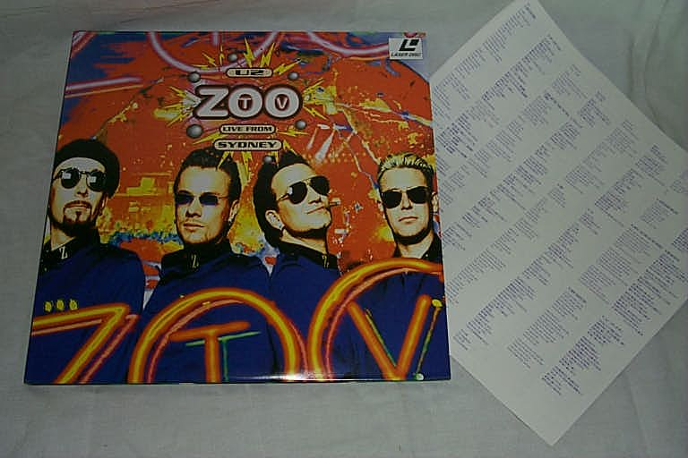 (LD:レーザーディスク)U2/ZOO TV LIVE FROM SYDNEY【中古】