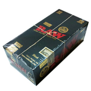 【50個入/まとめ買い/箱買い】【無添加】手巻きタバコ用ペーパー RAWクラシック・ブラックゴールド・シングル(50枚入)1箱50個入