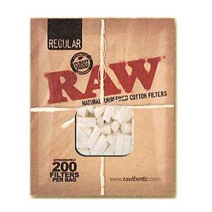 【10袋入/まとめ買い/箱買い】【手巻きタバコ用フィルター】【無添加】RAWコットンフィルター・レギュラー(約200個入) 1パック10袋入