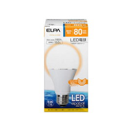 ELPA 朝日電器 LED電球エルパボール A形広配光 15W80W形相当 電球色相当 E26LDA15L-G-G599