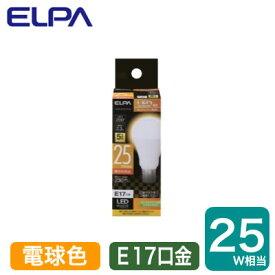 LDA2L-G-E17-G4102LED電球 ミニクリプトンタイプ 2.3W 電球色相当 E17口金 25W形相当ELPA 朝日電器 ランプ