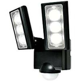 ELPA 朝日電器 セキュリティ用品防雨形 屋外用LEDセンサーライト2灯 乾電池式 ワイヤレスチャイム増設可能ESL-312DC