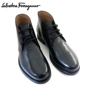 新作 フェラガモ/Salvatore Ferragamo メンズ シューズ 靴 ブーツ SACHIE 725835 NERO ブラック 【即発送可能】