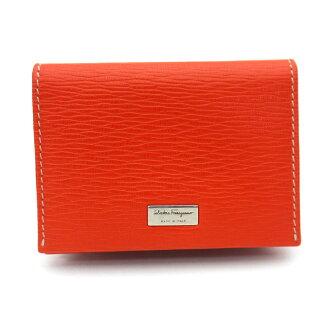 Ferragamo/Salvatore Ferragamo名片夹(把卡放进去)66-7062 ARANCIATA橙子