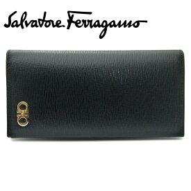 【新品】フェラガモ/Salvatore Ferragamo メンズファスナー付長財布 66-A069 NERO ブラック【即発送可能】