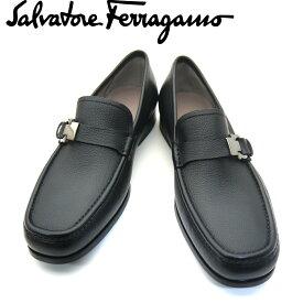 【新品】フェラガモ/Salvatore Ferragamo メンズ ローファー ビジネスシューズ 靴 モカシン ガンチーニ ADAM 0703762 NERO ブラック 【即発送可能】
