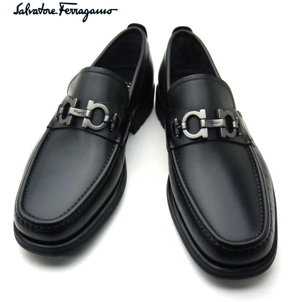 フェラガモ/Salvatore Ferragamo メンズ シューズ 靴 モカシン DAVID 671792 NERO EE ブラック 【即発送可能】