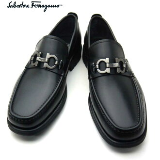 Ferragamo/Salvatore Ferragamo人鞋鞋mokashin DAVID 671792 NERO EE黑色