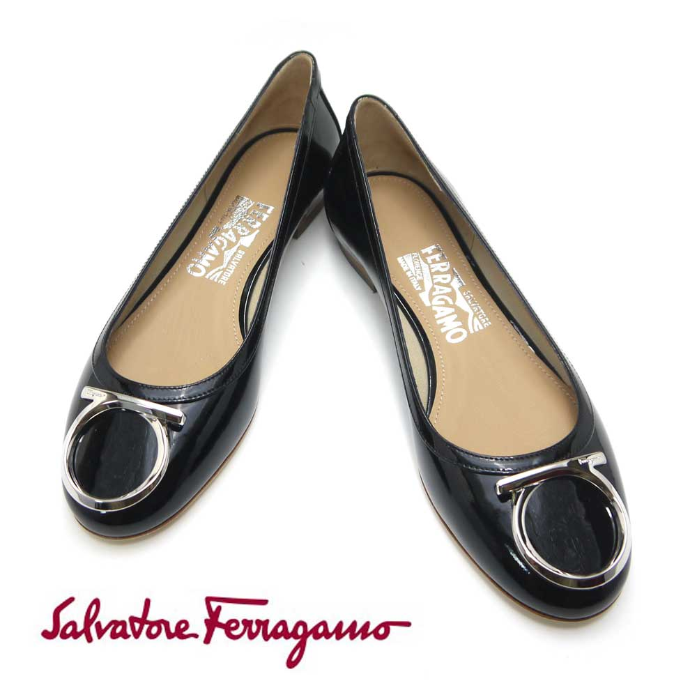 フェラガモ/Salvatore Ferragamo レディース 靴 スニーカー フラットシューズ ENA 01M054 0658673 ブラック 【即発送可能】