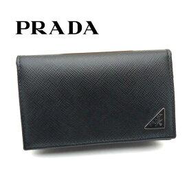 プラダ/PRADA カードケース 名刺入れ サフィアーノ トライアングル 2MC122 QHH F0002 ブラック【即発送可能】