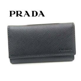 プラダ/PRADA 6連キーケース サフィアーノ 2PG222 053 F0002 ブラック【即発送可能】
