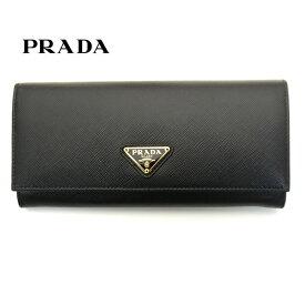 プラダ/PRADA レディース パスケース付き長財布 サフィアーノ 1MH132 QHH F0002 ブラック ゴールド金具【即発送可能】