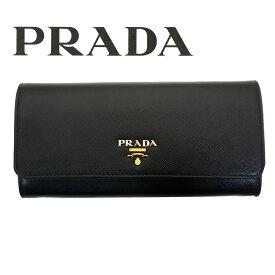 プラダ/PRADA レディース パスケース付き長財布 サフィアーノ 1MH132 QWA F0002 ブラック ゴールド金具【即発送可能】【即発送可能】