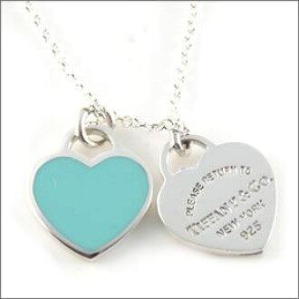 20d4db1d5 Tstaile Tiffany Tiffanyco Necklace Rtt Double Heart. Tiffany Double Heart  Pendant Blue Necklace Return Toe