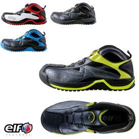 安全靴 スニーカー メンズ ワークシューズ elf エルフ ギアテック 01 ボア 高機能ピットシューズ ELG01 ハロウィン