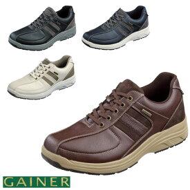 靴 メンズ ゲイナー012 スニーカー ウォーキングシューズ スタッドレス意匠 滑りにくい 吸湿速乾 抗菌防臭機能 ファスナー付き 4E 全2色 24.5〜28.0CM GN012