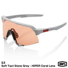 【あす楽対応】100%(ワンハンドレッドパーセント) 61034-289-79 サングラス S3 Soft Tact Stone Grey − HiPER Coral Lens