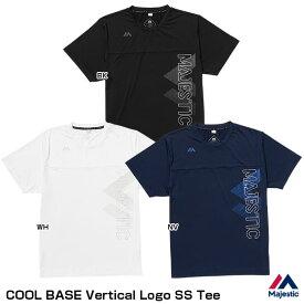 【あす楽対応】<メール便対応>マジェスティック(Majestic) XM01-MJ-0S04 クールベースバーティカルロゴSS Tシャツ(半袖) COOL BASE Vertical Logo SS Tee 50%OFF 野球用品 2020SS