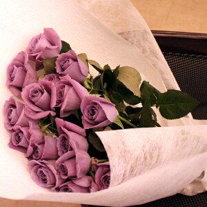 ブルーローズ「APPLAUSE 〜アプローズ〜」の15本花束 記念日 アニバーサリー 誕生日 結婚 プレゼントギフト サントリー 青いバラ 人気 花言葉 夢かなうフラワーバレンタイン