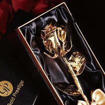 ゴールドローズ【限定少量】【送料無料】花花束ギフトプレゼントflowerお祝い名入れ金ゴールド
