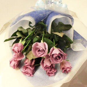 ブルーローズ「APPLAUSE 〜アプローズ〜」の10本花束 記念日 アニバーサリー 誕生日 結婚 プレゼントギフト サントリー 青いバラ 人気 花言葉 夢かなうフラワーバレンタイン