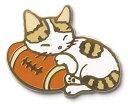 送料無料 メール便 猫ピンズ 猫ピンバッジ ラグビー マクラ 茶トラ 猫グッズ ネコグッズ 猫雑貨 ネコ雑貨 猫 ネコ ねこ …