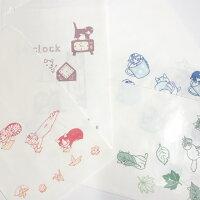 送料無料メール便白封筒時計(4柄12枚入り)猫グッズネコグッズ猫雑貨ネコ雑貨猫ネコねこ封筒ペーパーバッグ可愛いかわいいカワイイキャットポタリングキャット